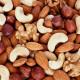Assorted nuts (almonds, filberts, walnuts, cashews) close up