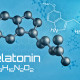 Three-dimensional molecular model of Melatonin - 3d render